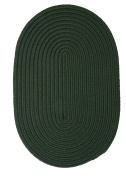 Boca Raton Polypropylene Braided Rug, 0.6m by 1.8m, Dark Green