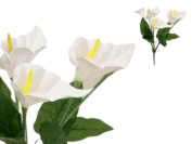 84 Silk Calla Lily Flowers for Wedding Bouquets - White