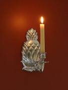 Brass & Silver Traditions Pineapple Wall Sconce, Pewter