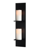 Mariano Metal Decor WA-CAN-2-BLK Black Ridge Candle Sconce/Metal Wall Decor Art