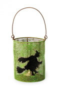 October Hill Hand-Painted Mesh Tealight Candle Holder, Witch
