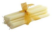 ArtisanStreet's 30cm Hand-Rolled Beeswax Honeycomb Tapers. Set of 12. Limited Edition. Dripless.