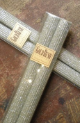 30cm Natural Beeswax Glitter Candles, Platinum Colour, Boxed Set of 2
