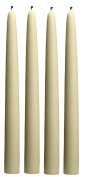 Root Candles Boutique 30cm Unscented Hand-dipped Taper Candles, Ivory, Box of 4