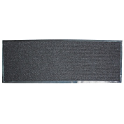 J & M Home Fashions Ribbed Runner Utility Mat, 60cm by 150cm , Charcoal