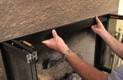 HANG YOUR FIREPLACE SCREEN IN STYLE with Condar's Fireplace Rod and Valance Kit (9-76). Easy to instal. Hanger rods are concealed neatly behind the 5.1cm black metal façade of Valance. Screen panels slide easily along rods. Adjustable extension brac ..