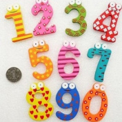 Colourful Wooden Magnetic Numbers Fridge Magnet Toy,NUMBERS Educational Math Toy