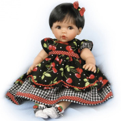 "Ashton-Drake Cheryl Hill ""Sweetie Pie"" Baby Doll in Cherry Dress - By The Ashton-Drake Galleries"