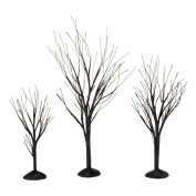 Department 56 Halloween Seasonal Decor Accessories for Village Collections, Black Bare Branch Trees, 4.5cm