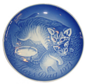 BING & GRONDAHL 1971 Mother's Day Porcelin Plate - Cat With Kitten