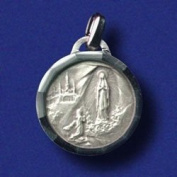 Lourdes Water Silver Plated Pendant in Gift Box