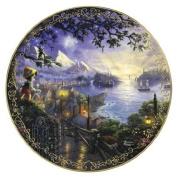 Thomas Kinkade Pinocchio Wishes Upon A Star Plate