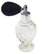 Vintage Style Refillable Empty Glass Perfume Bottle Black Bulb Spray Atomizer 50ml