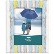 Prinz Shorelines Washed Wood Frame, 20cm by 25cm , Multi-Colour