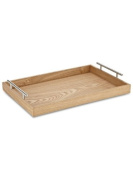 Abbott Collection Handled Wooden Tray, Natural