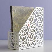 Design Ideas Network Magazine File, White