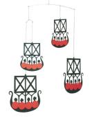 Flensted Mobiles Nursery Mobiles, The 4 Viking ships