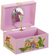 """MusicBox Kingdom 22017 Musical Jewellery Box Fairy Rose, Playing """"Over The Rainbow"""""""