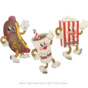 Dancing Snacks- Set of 3 Tin Sign