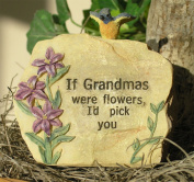 Grandma Garden Rock 8.9cm H -- Perfect Size for Grandma's Rock Garden or Sitting in a Flower Pot -- If Grandma's Were Flowers, I'd Pick You Engraved on Front -- Great Gift for Grandma, New Grandmother, Grandma-to-be, Nana