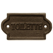 French Bathroom Door Toillette Sign / Plaque