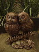Sale - Owl Lovers Sculpture - Perfect Gift - Ships Immediately!!