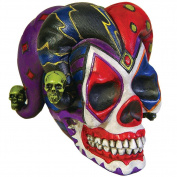 Court Jester Clown Skull Skeleton Head Home Decoration Figure