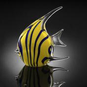 Yellow Angel Fish Art Glass