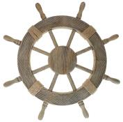 Nautical Decor 60cm Wood Pirate's Ship Wheel Marine Decor