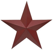 Craft Outlet Antique Star Wall Decor, 28cm , Red, Set of 2
