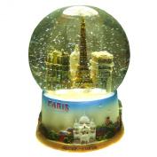 Souvenirs of France - Glass Paris Monuments Snow Globe - Height 10cm