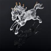 One Feng Shui Crystal Glass Success Horse Sculpture Zodiac Horse L1022