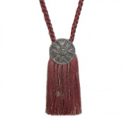 India House 76721 Tieback Medallion Tassel, 23cm , Burgundy Mix