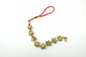 Red Feng Shui Golden Toad Chain Tassel for Wealth