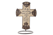 Drake Design Inspirational Cross by The Faith Collection, As for Me and My House We Will Serve The Lord, 25cm by 18cm