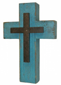 LL Home Teal Wooden Cross