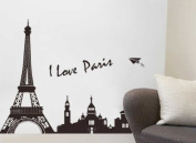 NLC Eiffel Tower Silhouette Decoration Wall Sticker Decal