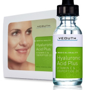 Daily Moisturiser Hyaluronic Acid Plus Vitamin C and Tripeptide-31 Serum. Best Anti Ageing Skin Care Plus Revolutionary New Tripeptide-31, Maximises Skin Hydration, Increases Collagen Synthesis. Medical Quality, . .