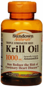 Sundown Triple Strength Red Krill Oil Softgels, 1000 mg , 60 Count