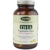 Flora DHA Capsules, Vegetarian Algae Green, 60 Count