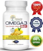 HEALTH NURTURE FISH OIL OMEGA-3 **Maximum Strength 1500mg (800 EPA/600 Dha) . AND SAVE. * Pharmaceutical grade Fish Oil**