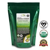 Moringa Oleifera Leaf Powder - USDA Certified Organic - 100% Pure - 0.5kg Resealable Pouch