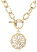 "Freida Rothman ""Gramercy"" Embellished Link Love Knot Medallion Necklace"