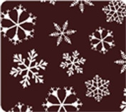 Pfeil & Holing Chocolate Transfer Sheet - Snowflakes - #3