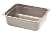 Browne-Halco 22124STP 22-Gauge Stainless Steel Stack-A-Way Anti-Jam Steam Table Pan, Half Size, 6.6l