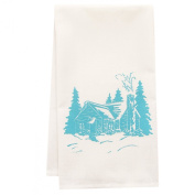 Organic Cabin Block Print Tea Towel