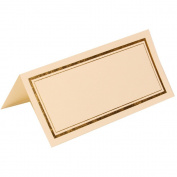 JAM Paper® - Ivory with Gold Double Border Table Place Cards 2 x 4 1/4 - 100 cards per pack