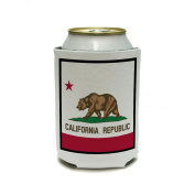 California Republic State Flag Can Cooler - Drink Insulator - Beverage Insulated Holder