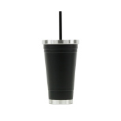 Hot or Cold - Stainless Steel Drink Tumbler - Double Wall Vacuum Insulated -530ml Capacity - Matte Black