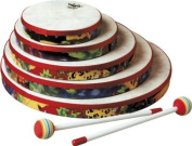 REMO Drum, KIDS PERCUSSION®, Hand Drum, 20cm Diameter, 3.2cm Depth, Fabric Rain Forest